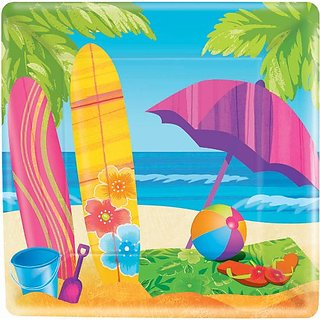 Surfs Up Dessert Plates 8ct