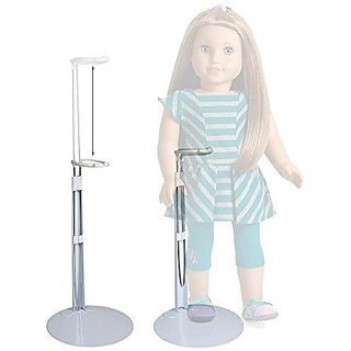 SET of 2 Metal doll stands. Fits 18