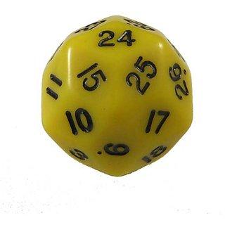 KOP06011 Yellow Opaque Triantakohedron 30 Sided Dice 1 ea