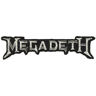Application Megadeth Silver Logo Patch Novelty