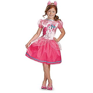Disguise 83316L Pinkie Pie Classic Costume, Small (4-6x)