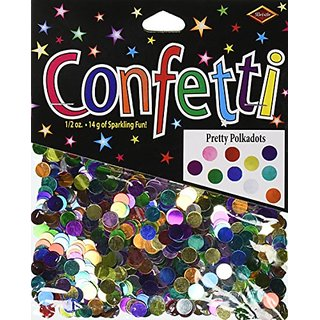 Beistle CN137 Pretty Polka Dots Confetti, 1 2-Ounce