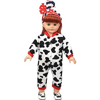 Vanna Wan Cow Clothes Set Fits 18 Inch American Girl Doll Clothes