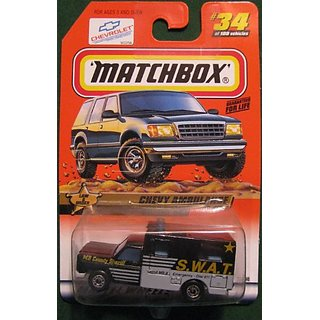 Matchbox Law & Order Chevy Ambulance SWAT Blue #34