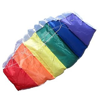 In the Breeze Rainbow 32 Inch Sport Kite - Dual Line Stunt Parafoil - Includes Kite Line and Bag