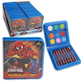 Officially licensed product.-Quantity: 1-Includes: 8 Crayons, 9 Watercolors, 1 Paintbrush-Item Size: 4-5 8