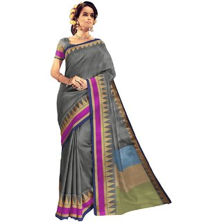 RK FASHIONS Grey Bhagalpuri Party Wear Printed Saree With Unstitched Blouse - RK234102
