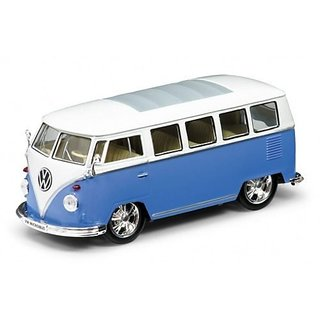 1962 Volkswagen Classical Bus Low Rider Blue 1 24 by Welly 22095LR