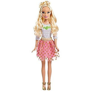 Barbie 28 inch Best Fashion Friends Outfit - Polka Dot Rosette Top, Glitter Tulle Skirt and Gold Shoes