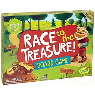 Peaceable Kingdom Race to the Treasure! Award Winning Cooperative Game for Kids