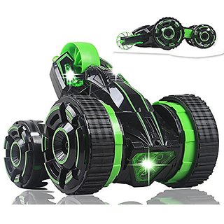Three King 5 Wheeled Remote Control 2-sided Extreme High Fastest Speed Tumbling Action 360 Degree Rolling Stunt Car with