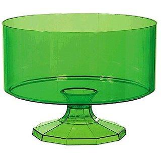 Amscan Medium Plastic Trifle Container Party Tableware, 80 oz, Kiwi