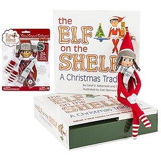 Elf on the Shelf: Girl Scout Elf (Blue Eyed) with Polar Pattern Set