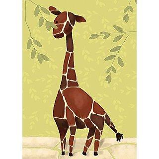 Oopsy Daisy Gillespie The Giraffe by Meghann OHara Canvas Wall Art, 10 by 14-Inch