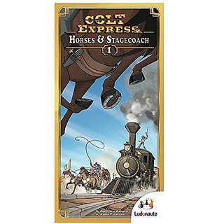 Colt Express Horses & Stagecoach Board Game