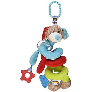 Bigjigs Toys presents the Bruno Spiral Cot Crib Rattle - an irresistible plush twisty toy for your infants crib and oth