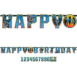 Batman Jumbo Add-An-Age Letter Banner