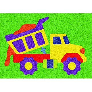 Lauri Crepe Rubber Puzzle - Dump Truck