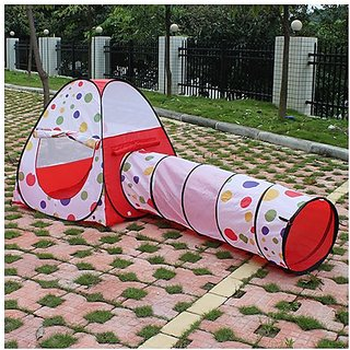 AGPtek Play Tent Dot Design Princess Castle Pop Up PlayHouse Gift Toy Indoor Outdoor for Girls Children Kids