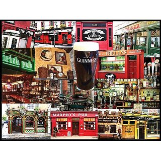White Mountain Puzzles Irish Pubs - 550 Piece Jigsaw Puzzle