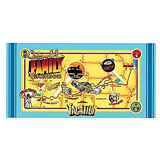 Factory Entertainment National Lampoons Vacation Map Beach Bath Towel