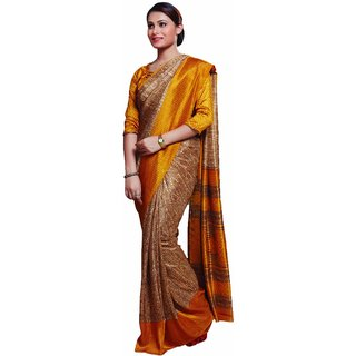 Sudarshan Silks Multicolor Polyester Self Design Saree With Blouse