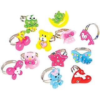 Rhode Island Novelty 18 Piece Kids Rhinestone Cutie Ring, Assorted