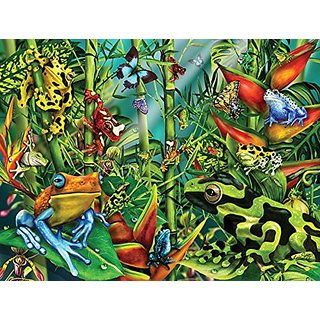 Frog Frenzy a 300-Piece Jigsaw Puzzle by Sunsout Inc.