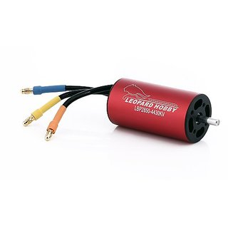 Leopard Brushless Inrunner 3580Kv 4-Pole for RC Boats and 65mm EDF Airplanes