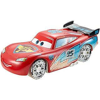 Disney Pixar Cars Ice Drifters 1:43 Scale Pullback Drifter Vehicle, Lightning McQueen