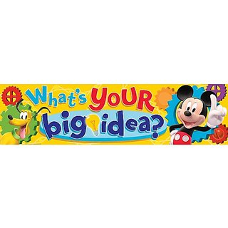 Eureka Mickey Mouse Clubhouse Classroom Banner, Whats Your Big Idea? 12 x 45