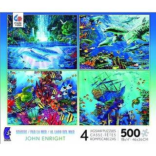 4 in 1 Multi Pack Seaside Jigsaw Puzzle