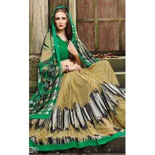 Sudarshan Silks Cream Cotton Self Design Saree With Blouse