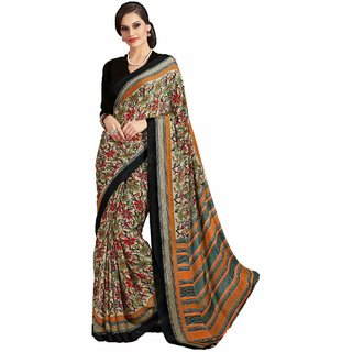Sudarshan Silks Multicolor Cotton Self Design Saree With Blouse