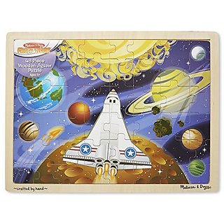 Melissa & Doug Space Voyage Wooden Jigsaw Puzzle (48 pcs)