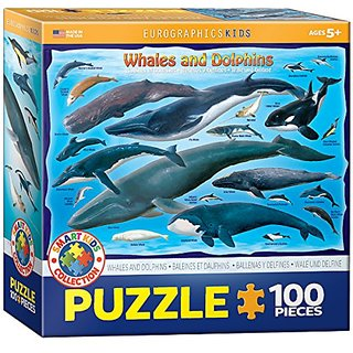 Whales & Dolphins 100 Piece Jigsaw Puzzle