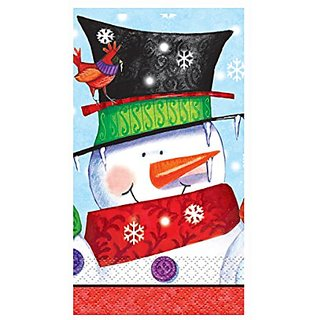 Snowman Buddies Holiday Paper Guest Napkins, 16ct