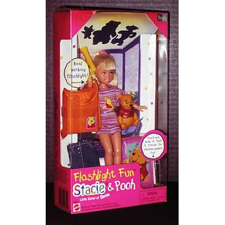 Barbie STACIE Flashlight Fun Stacie & Pooh (1997)