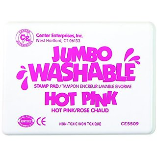 Center Enterprise CE5509 Jumbo Washable Stamp Pad, Hot Pink