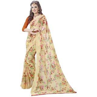 Sudarshan Silks Pink Self Design Cotton Saree with Blouse