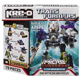 4-in-1 Decepticon Bruticus construction set-Build 4 Kreon figures in robot or vehicle mode-Includes 78 pieces-Build Vor