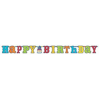 Birthday Fever Jumbo Add an Age Letter Banner