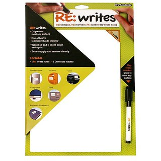Its Academic Re:Writes 10 x 13 Inches, White, 1 Note and 1 Dry Erase Marker (07068)