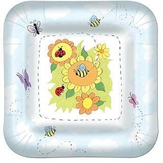 Garden Plates (square-shaped) (8 Pkg)