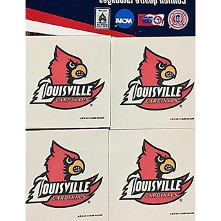 NCAA Louisville Cardinals 4-Pack Team Logo Temporary Tattoos