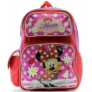 Disney Minnie Mouse Girls Red Pink Backpack School Bag BP-5247