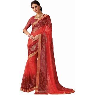 Sudarshan Silks Multicolor Raw Silk Self Design Saree With Blouse