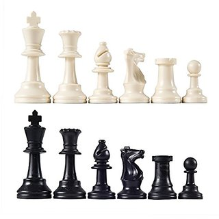Heavy Tournament Triple Weighted Chess Pieces with 3 3 4
