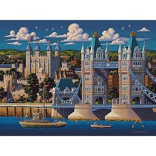 Jigsaw Puzzle - London Tower Bridge500 Pc By Dowdle Folk Art