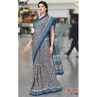 Sudarshan Silks Beige Raw Silk Self Design Saree With Blouse